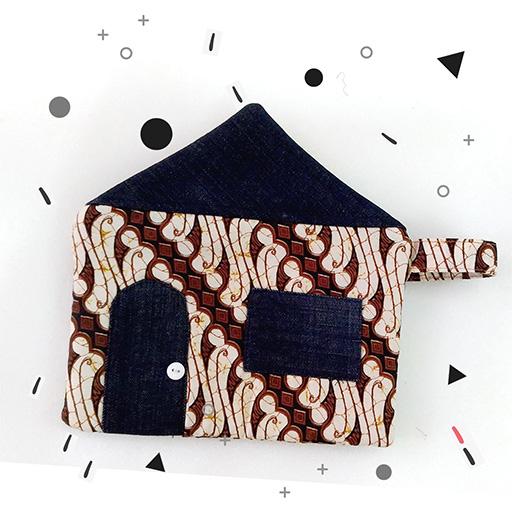 dompet bentuk rumah