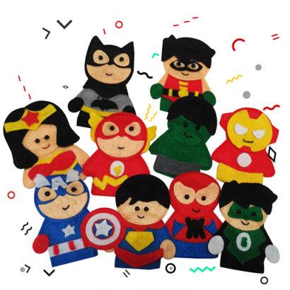 finger puppet superheroes