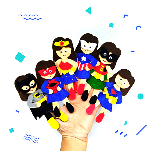 alat peraga women superheroes